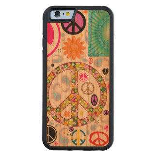 Peace & Paisley Collage Carved Cherry iPhone 6 Bumper Case