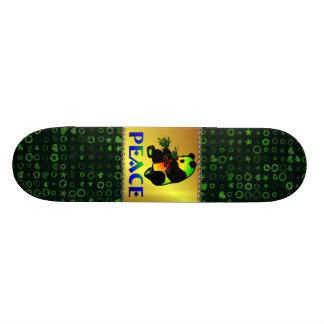 Peace Panda Bear Custom Skateboard