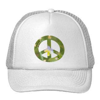 Peace pansy trucker hat