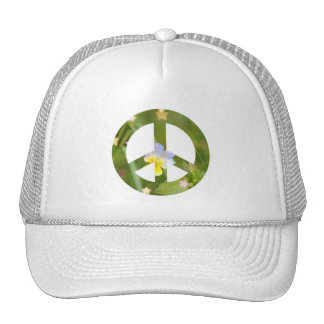 Peace pansy trucker hat