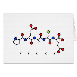 PEACE peptide card