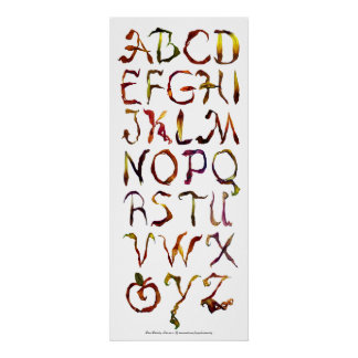 Peace Petals Alphabet Poster