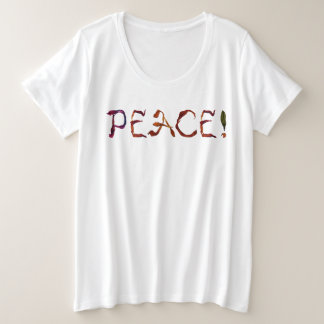 PEACE! petals by Aleta Plus Size T-Shirt