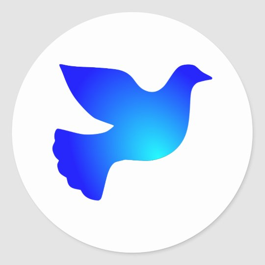 Peace pigeon peace dove classic round sticker