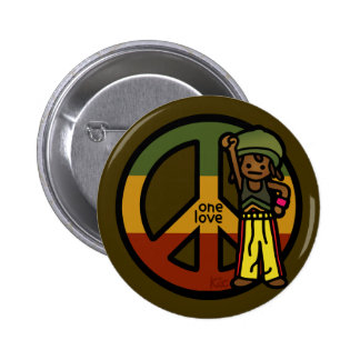 peace pin. 2 inch round button