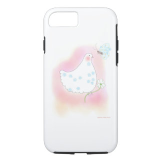 Peace Pink Dove flowers iPhone7 case by OR Designs
