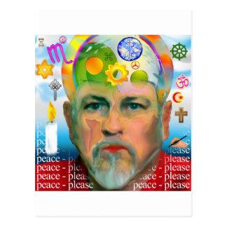 """Peace Please"" - Surreal Graphic Postcard"