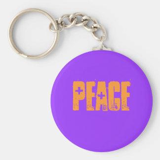 peace porte-clé rond