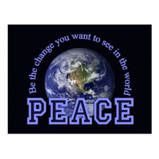 Peace postcard, customize postcard