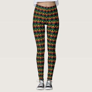 Peace power - Rasta root - Reggae Yoga Leggins Leggings
