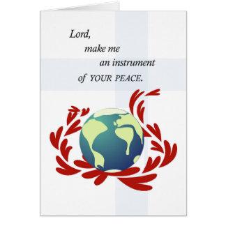 Peace Prayer of St. Francis Card