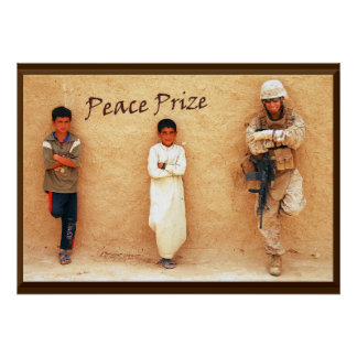 Peace Prize Military Tribute Poster