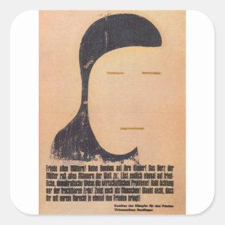 Peace Propaganda Poster Square Sticker