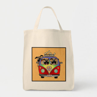 Peace Pugs Organic Grocery Bag