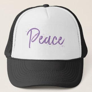 Peace--Purple-Text Trucker Hat