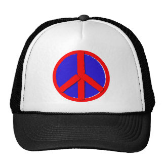 Peace - Red, white and blue Hats