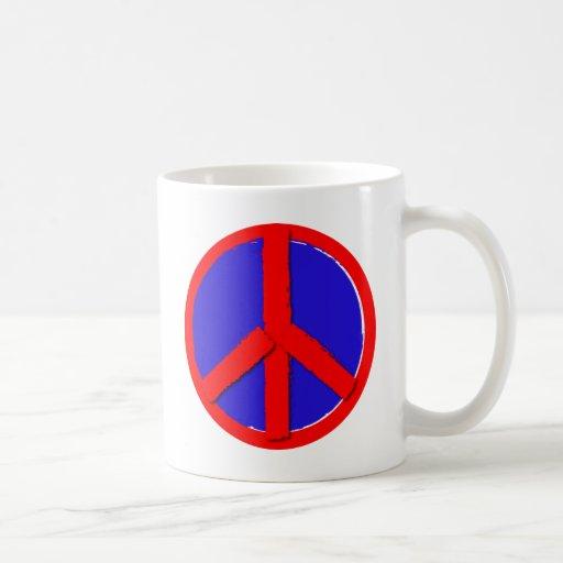 Peace - Red, white and blue Mug
