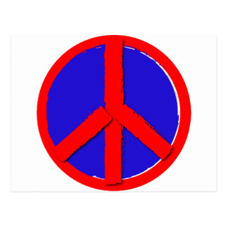 Peace - Red, white and blue Postcard