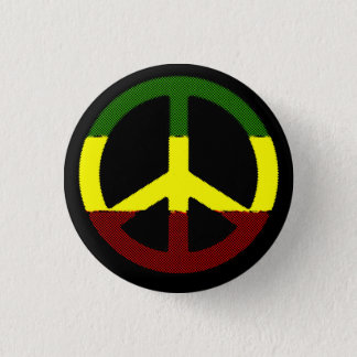 Peace Reggae 1 Inch Round Button