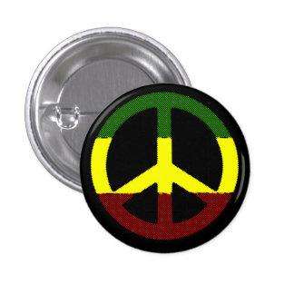 Peace Reggae 1 Inch Round Button
