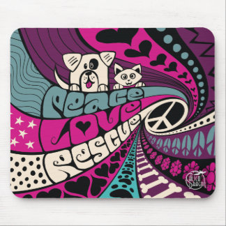 Peace, Rescue by Calico Dragon Mouse Pad