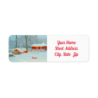 Peace Return Address Label Matches Card
