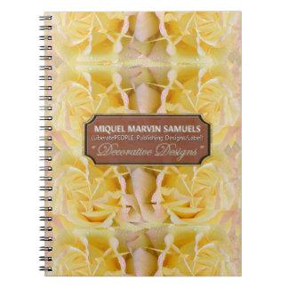 Peace Rose Decorative Nature Modern Notebook