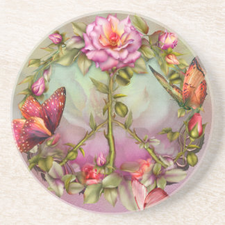 Peace Roses Art Coaster