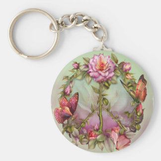 Peace Roses Art Keychain