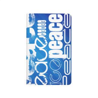 Peace; Royal Blue Stripes Journal