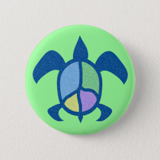 Peace Sea Turtle Buttons