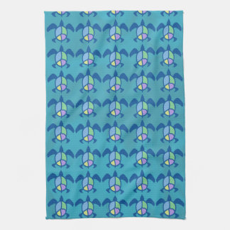 Peace Sea Turtle Kitchen Towels