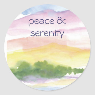 peace &  serenity classic round sticker