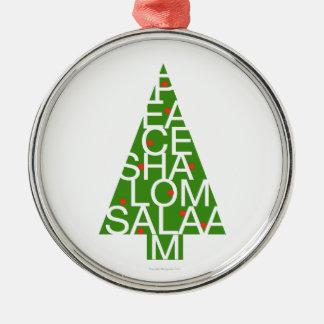 Peace Shalom Salaam Ornament
