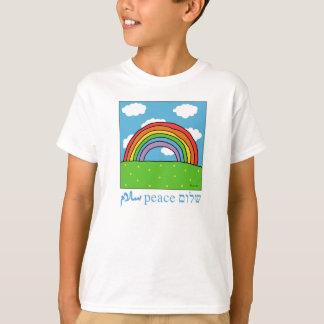 peace shalom salaam rainbow tshirt
