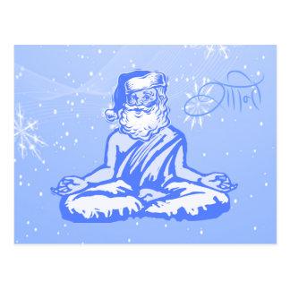Peace (Shanti) Santa Christmas Card Postcard