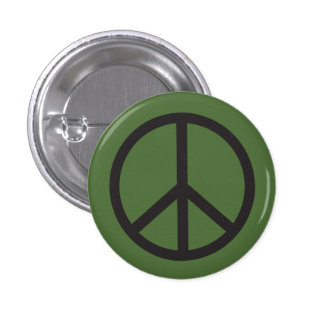 Peace Sign 1 Inch Round Button