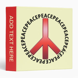 Peace Sign 3 Ring Binders