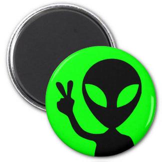 Peace Sign Alien Fridge Magnet