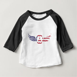 Peace Sign America Red White Blue Stars Usa Baby T-Shirt