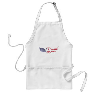 Peace Sign America Red White Blue Stars Usa Standard Apron