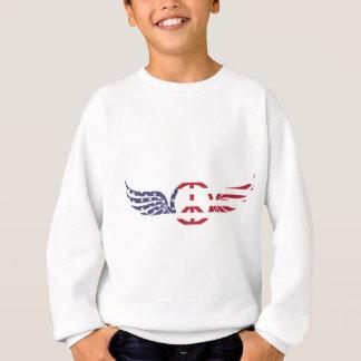 Peace Sign America Red White Blue Stars Usa Sweatshirt
