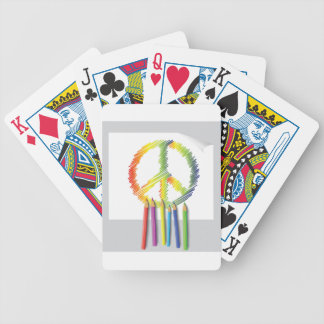 peace sign bicycle playing cards