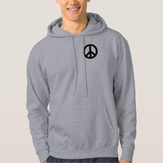 Peace Sign Black Hoodie