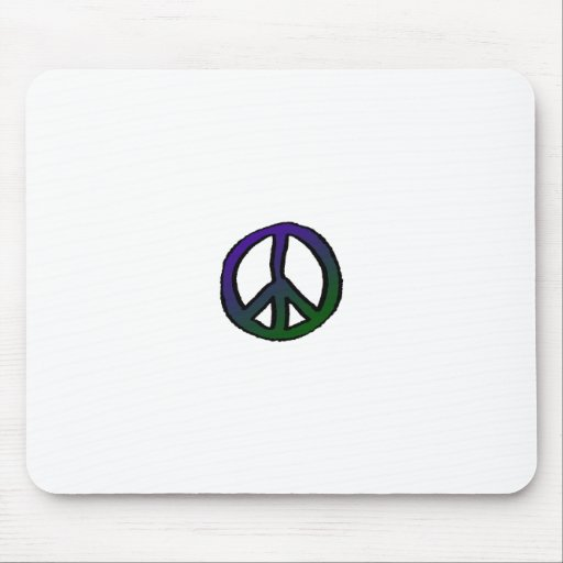Peace Sign Blue Green Mini - Mouse Pads