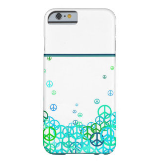 Peace sign bubbles barely there iPhone 6 case