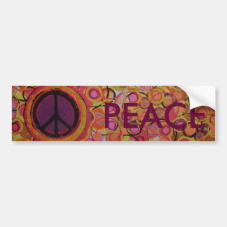 Peace Sign Bumper Sticker