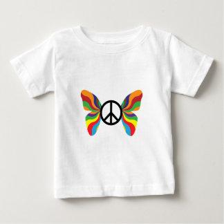Peace Sign Butterfly sixties retro groovy rainbow Baby T-Shirt