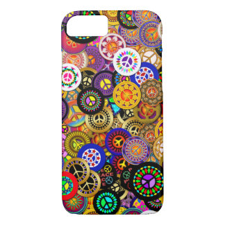 Peace Sign Buttons Collage iPhone 7 Case