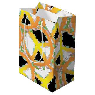 PEACE SIGN CARTOON Gift Bag MEDIUM GLOSSY